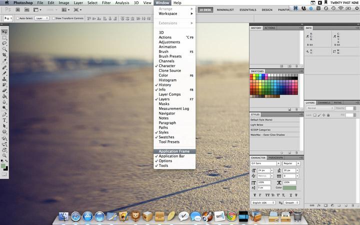Removing Photoshop Workspace Background Sayz Lim