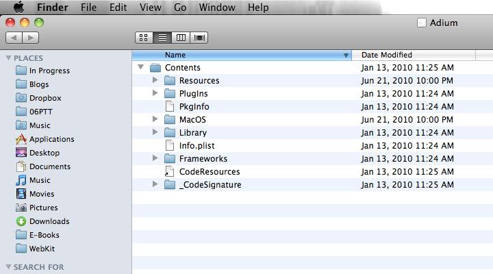 Adium Resources Folder