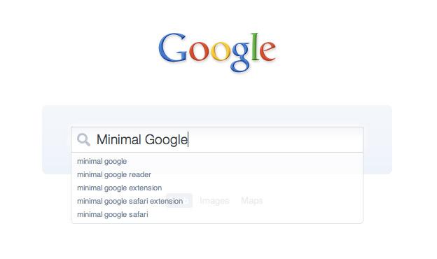 Minimal Google
