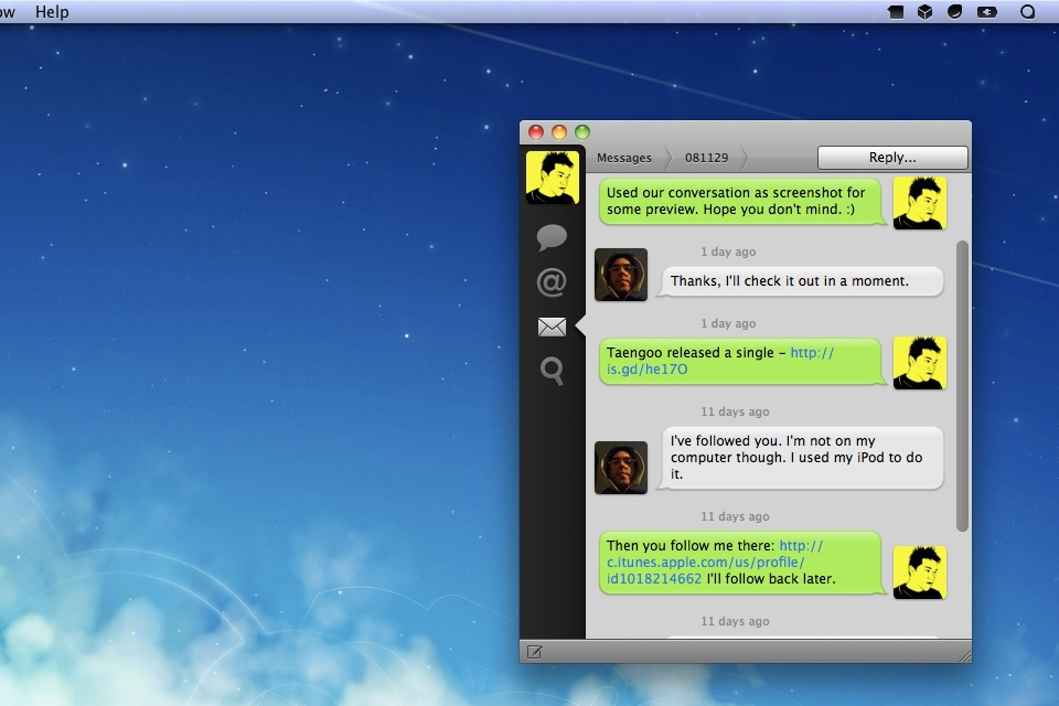 Tweetie for Mac Message Mod