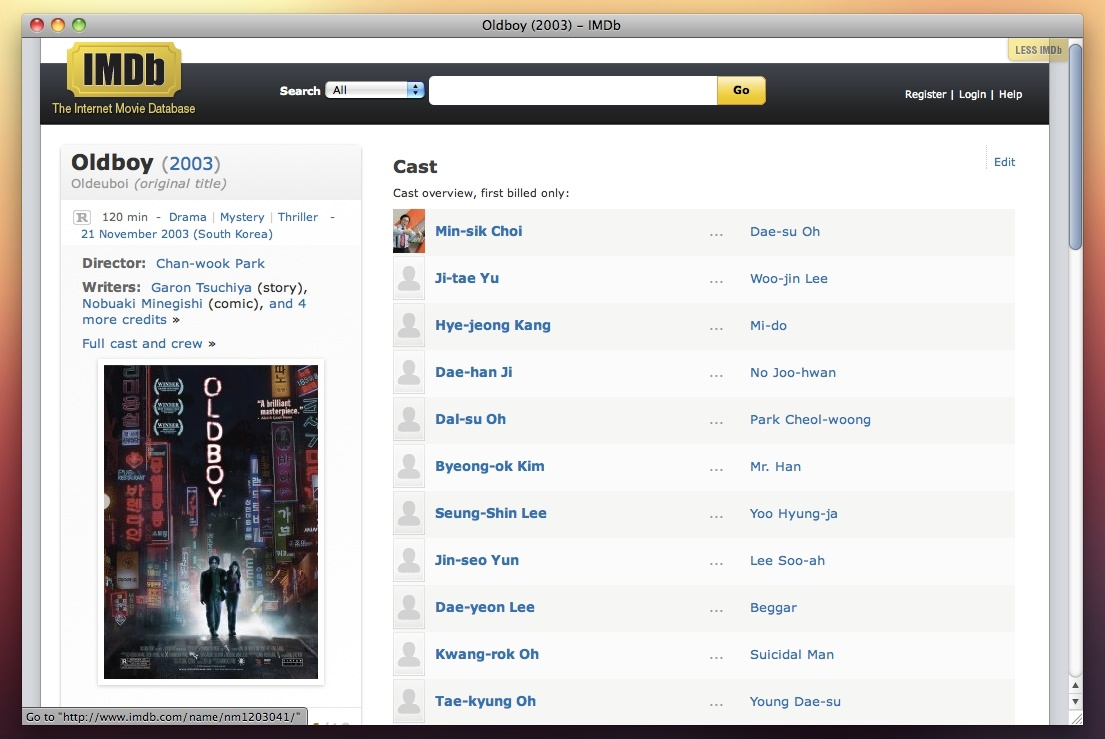 Less IMDB