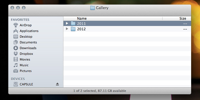 Gallery Required Folders