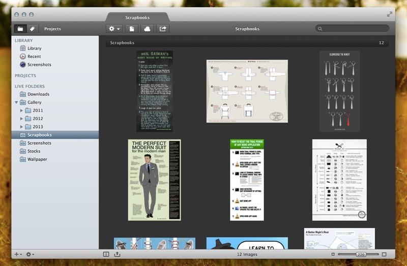 Pixa Scrabook Folder