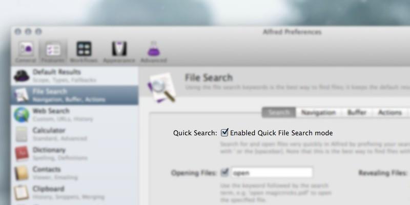 Alfred Quick File Search