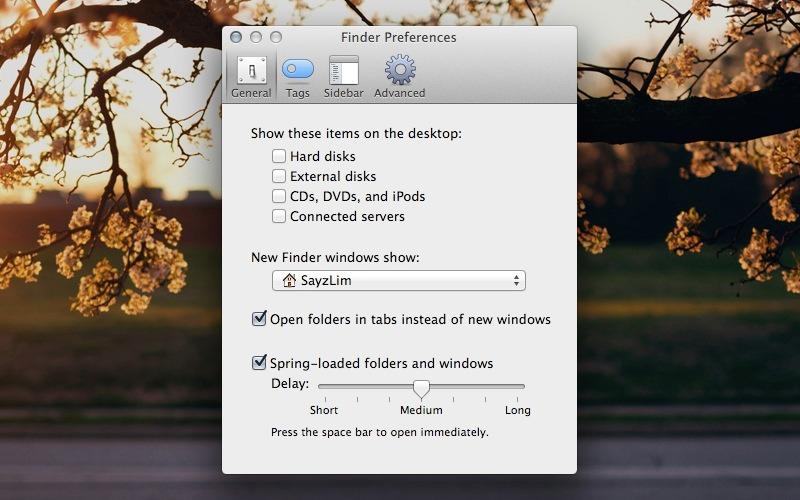 Mac Clean Desktop