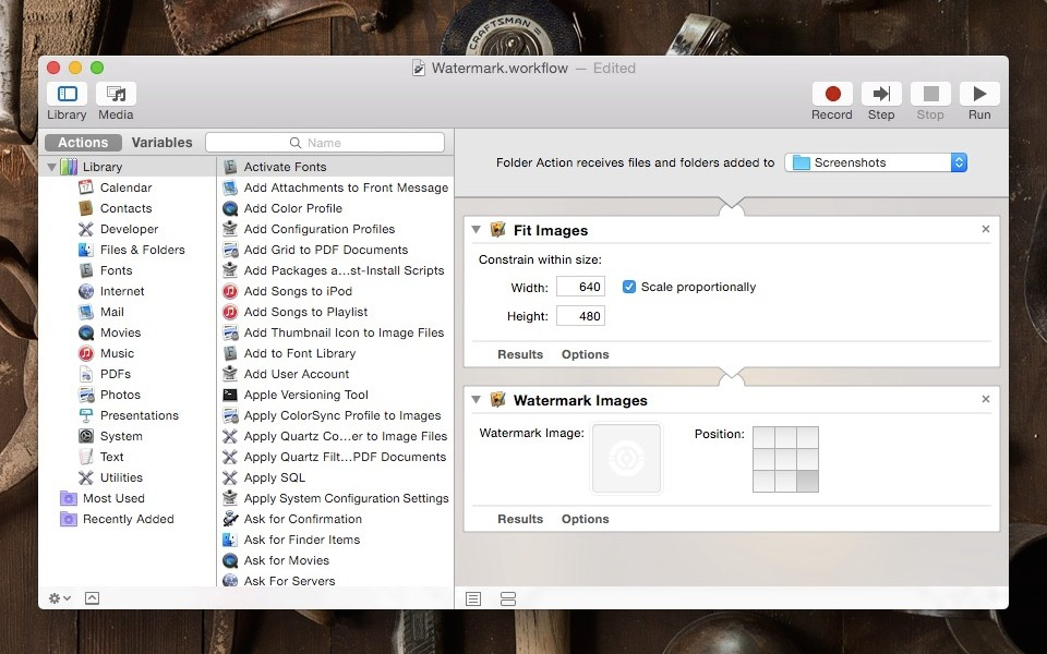 Automator Folder Actions