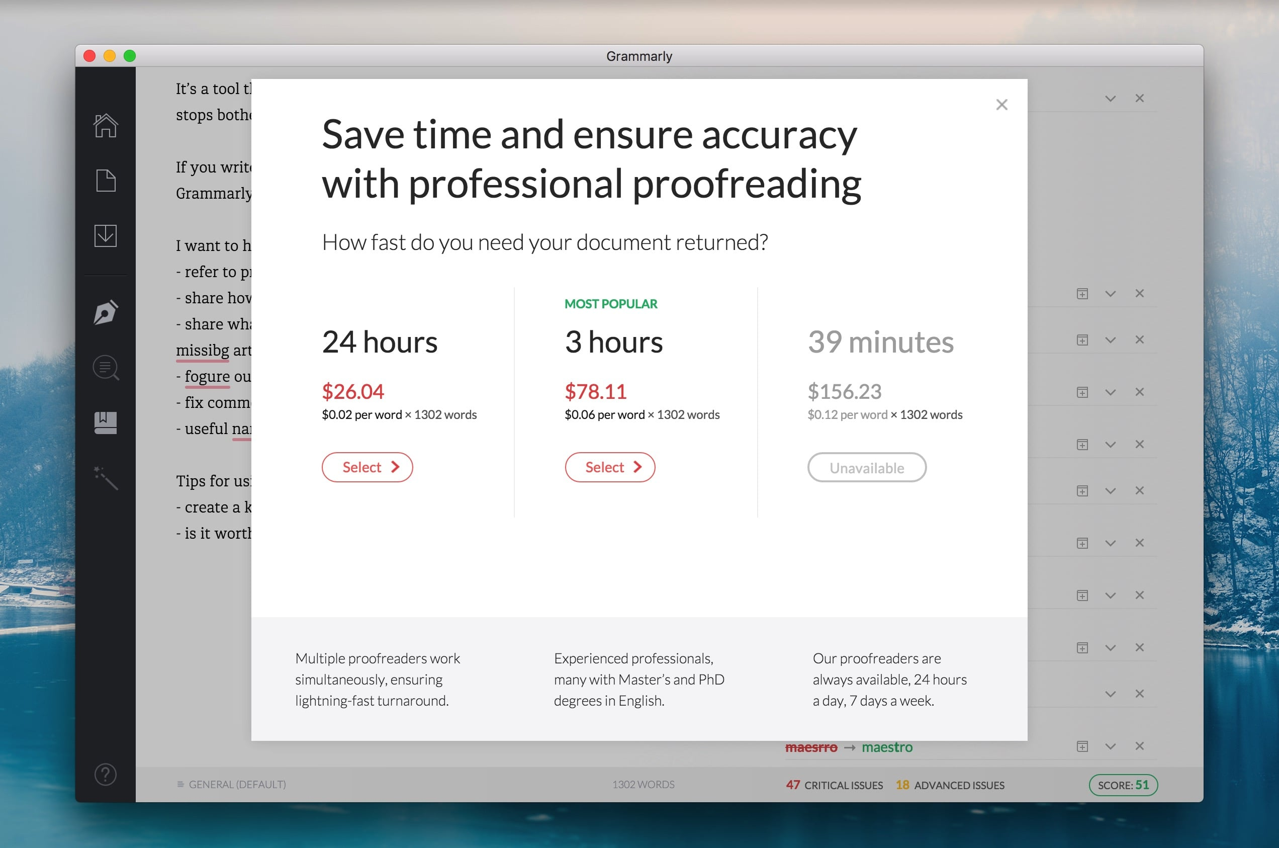 Grammarly Proofreading Price
