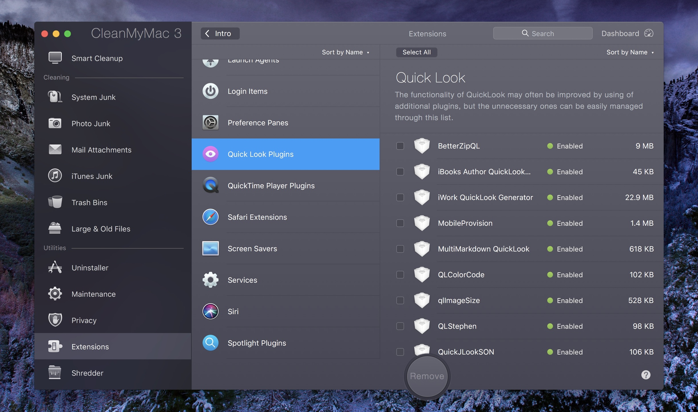 CleanMyMac - QuickLook Extensions